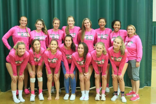 The Fort Myers High volleyball team helped her raise $100 this year for breast cancer research