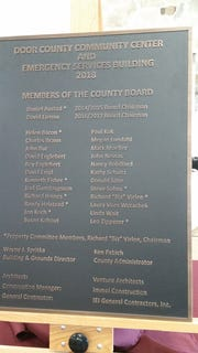 The new Door County Community Center and Emergency Services Building was dedicated Wednesday afternoon, at the former Sturgeon Bay highway shop.