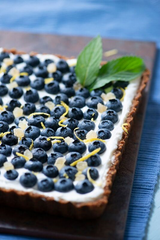 Eating the rainbow can be incorporated in dessert also. There's no better way to eat blue food than having blueberries.