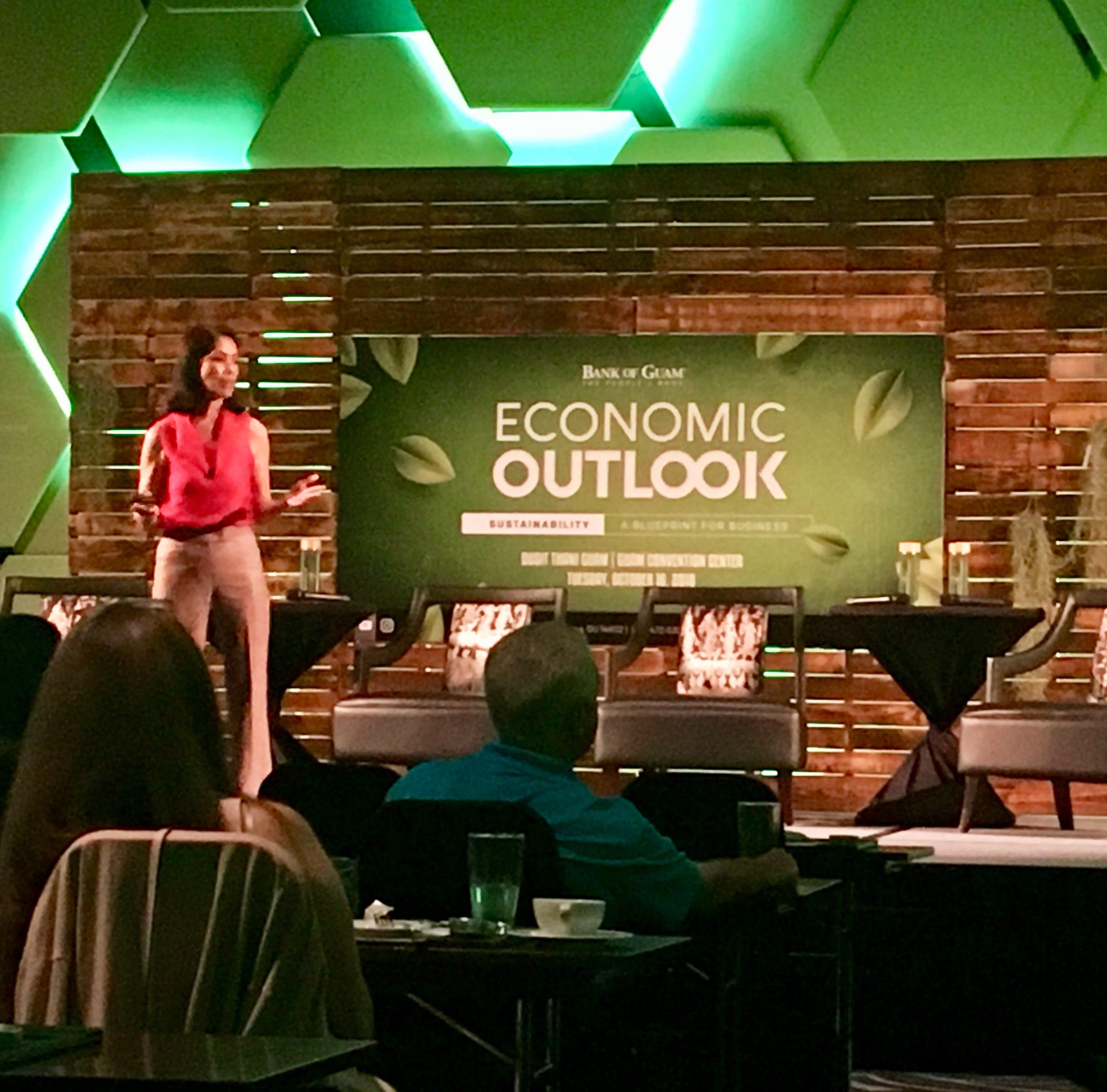 ABS-CBN Foundation Chair Gina Lopez speaks at economic forum