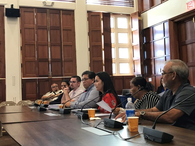 The Chamorro Land Trust Commission gave testimony for a bill to validate its ratification of 2,877 leases and to authorize 102 null and void leases, at a public hearing on Thursday, Oct. 18, 2018.