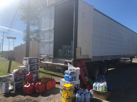 Once the semi-trailer is full, Amie Crawford and family members will drive 10 hours to Port St. Joe and Mexico Beach to deliver the supplies.