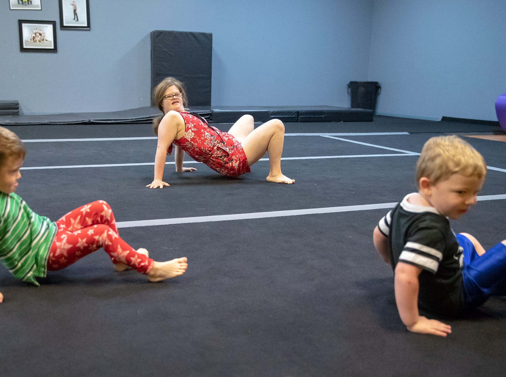"""""""Teachers always have to be a little bit strict on the kids and make sure they're doing what they're supposed to be doing,"""" said Kari Kermode, owner of Style Dance Academy in Franklin, Ind., on Tuesday, Oct. 9, 2018. """"She brings a glow, a different aspect to the room. She wants every kid to just have fun."""""""