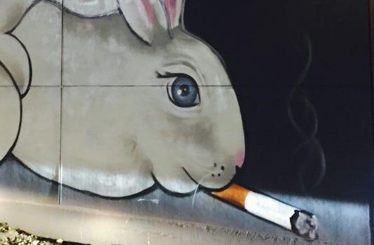 Beholder rabbits mural