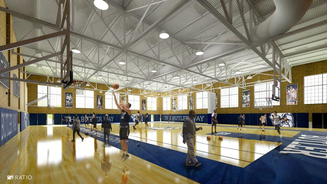 Renderings of Butler's new basketball practice facility.