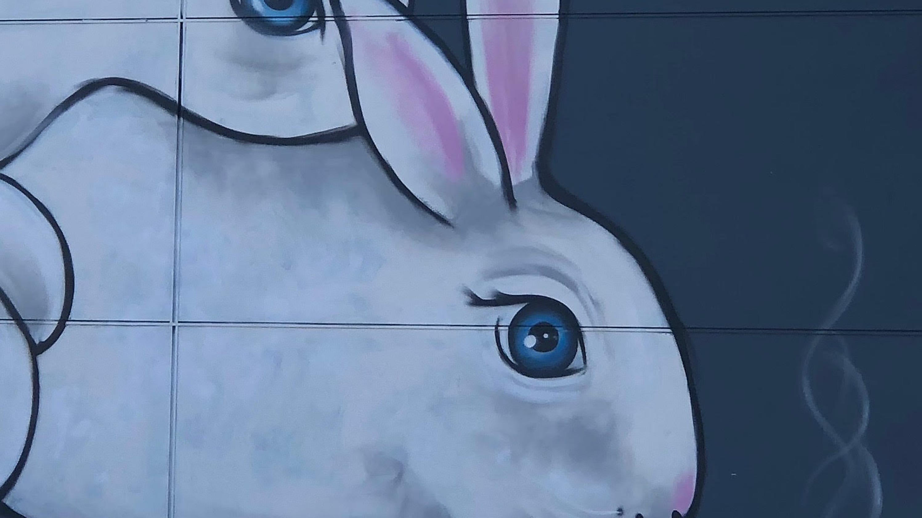 Beholder In Indianapolis Has A Cartoon Mural Of Two Rabbits Having Sex