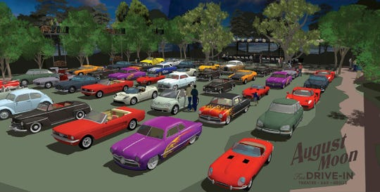A rendering for August Moon Drive-In.