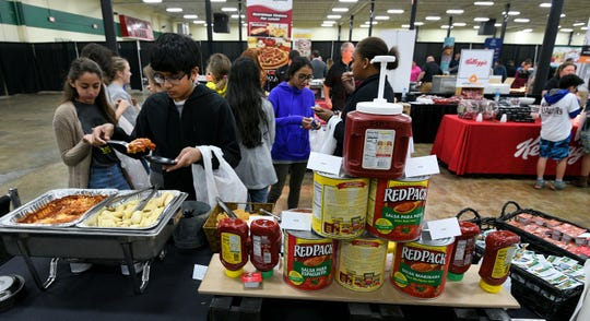 Students from various Knox County Schools tested foods Thursday, Oct. 18, 2018 to help select what will be served in cafeterias next school year.