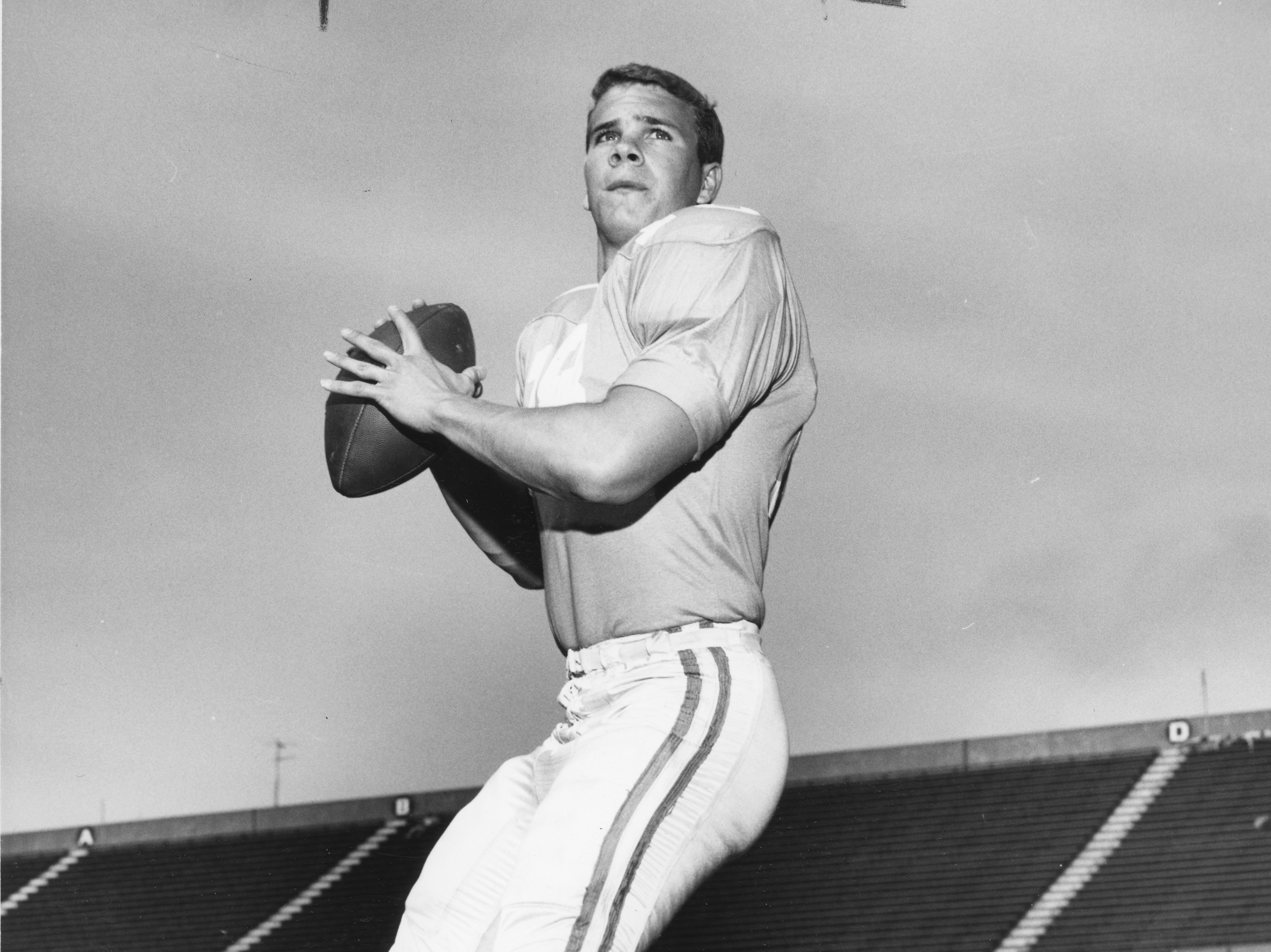 Tennessee Vols quarterback Bubba Wyche in 1968.