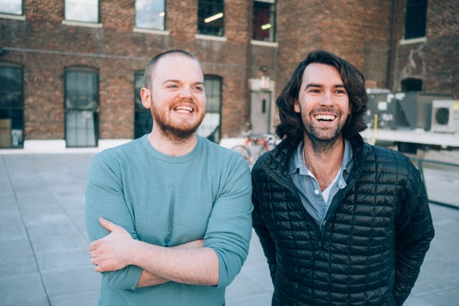 """Athens native Zack Akers, left, and Skip Bronkie are the creators of the """"Limetown"""" podcast, which is set in East Tennessee. A TV adaptation with Jessica Biel is now in the works."""