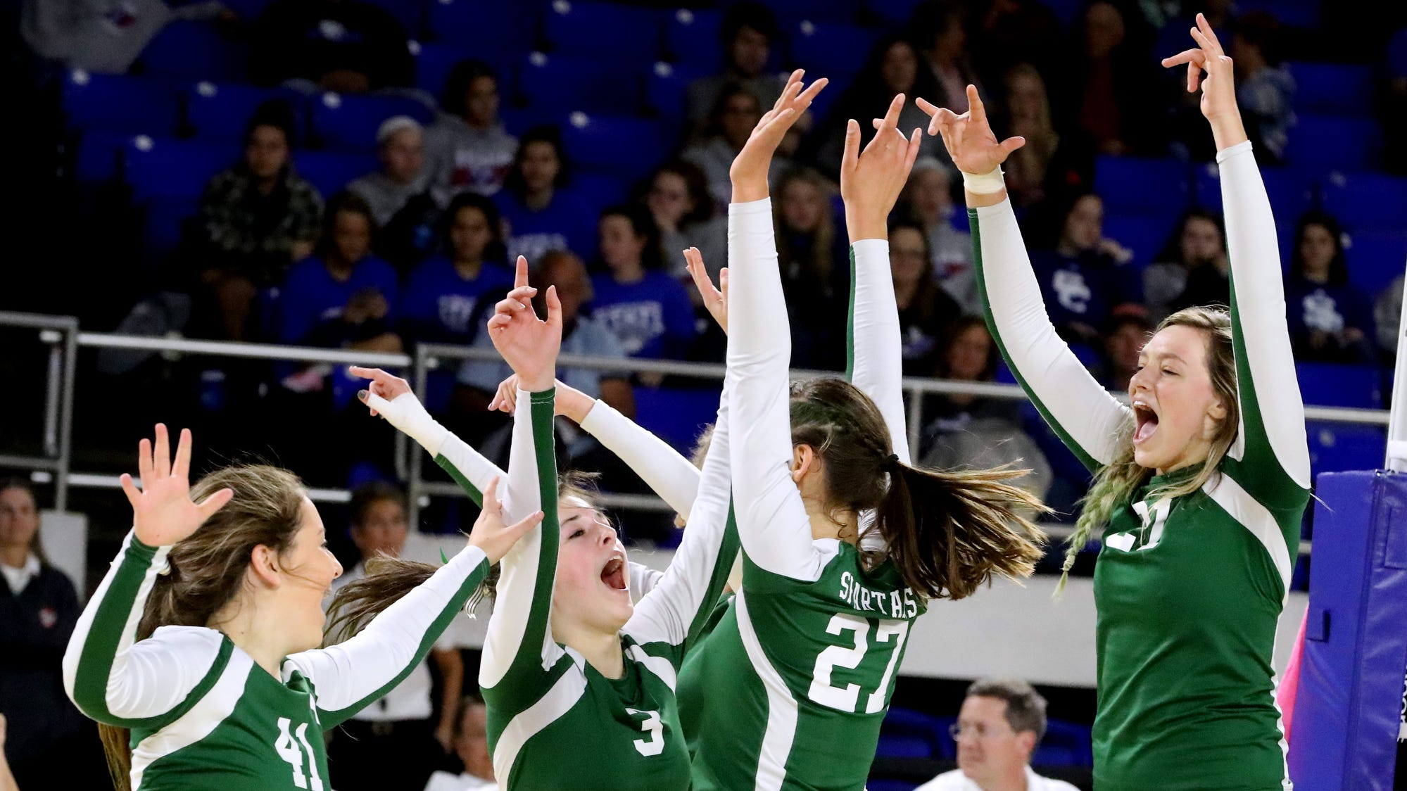 Kayleigh Hames leads Webb to sixth straight Division II-A state volleyball championship