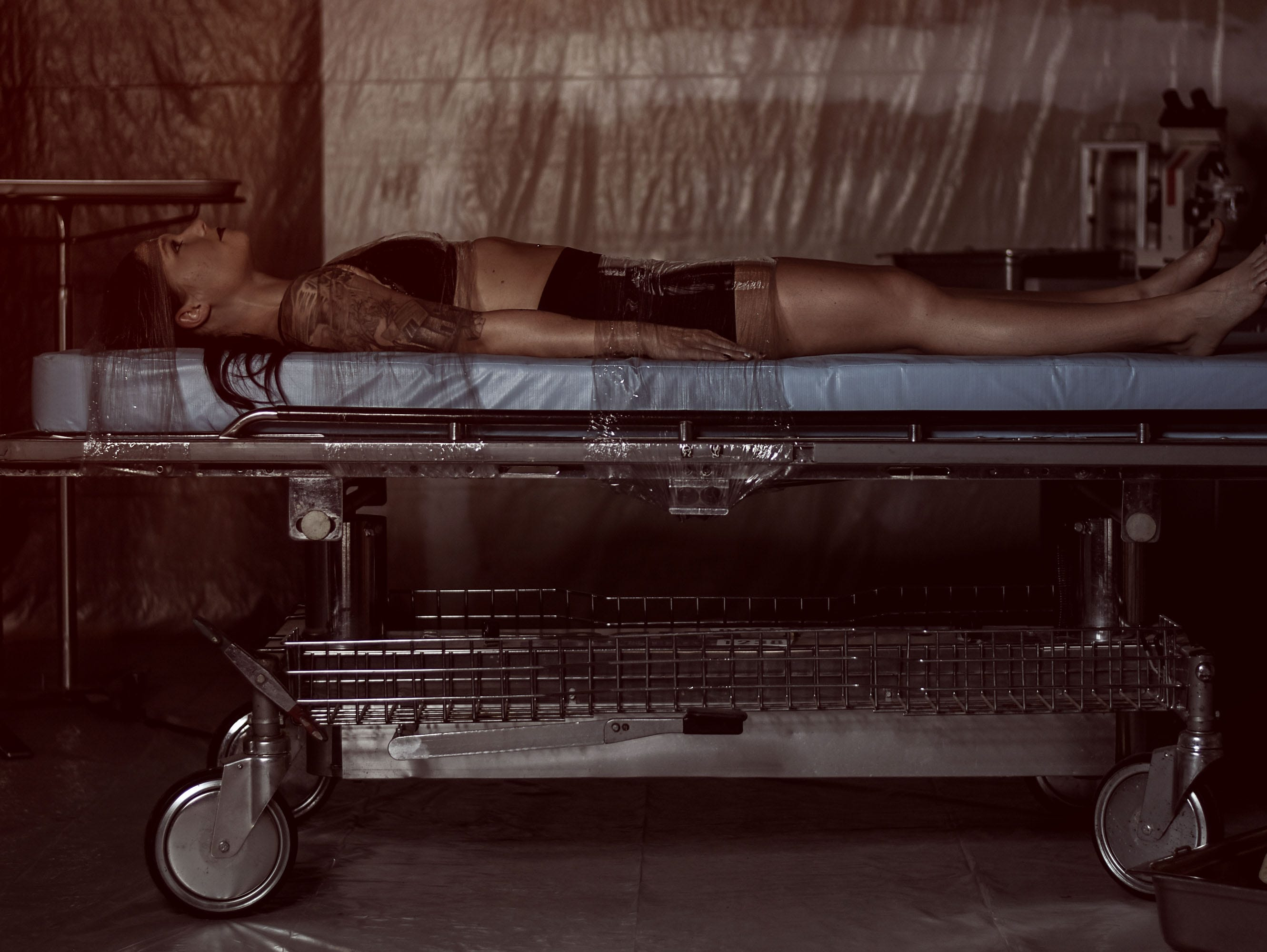 Leighann Word plays the victim in Mallory Bertrand's horror-inspired photo shoot