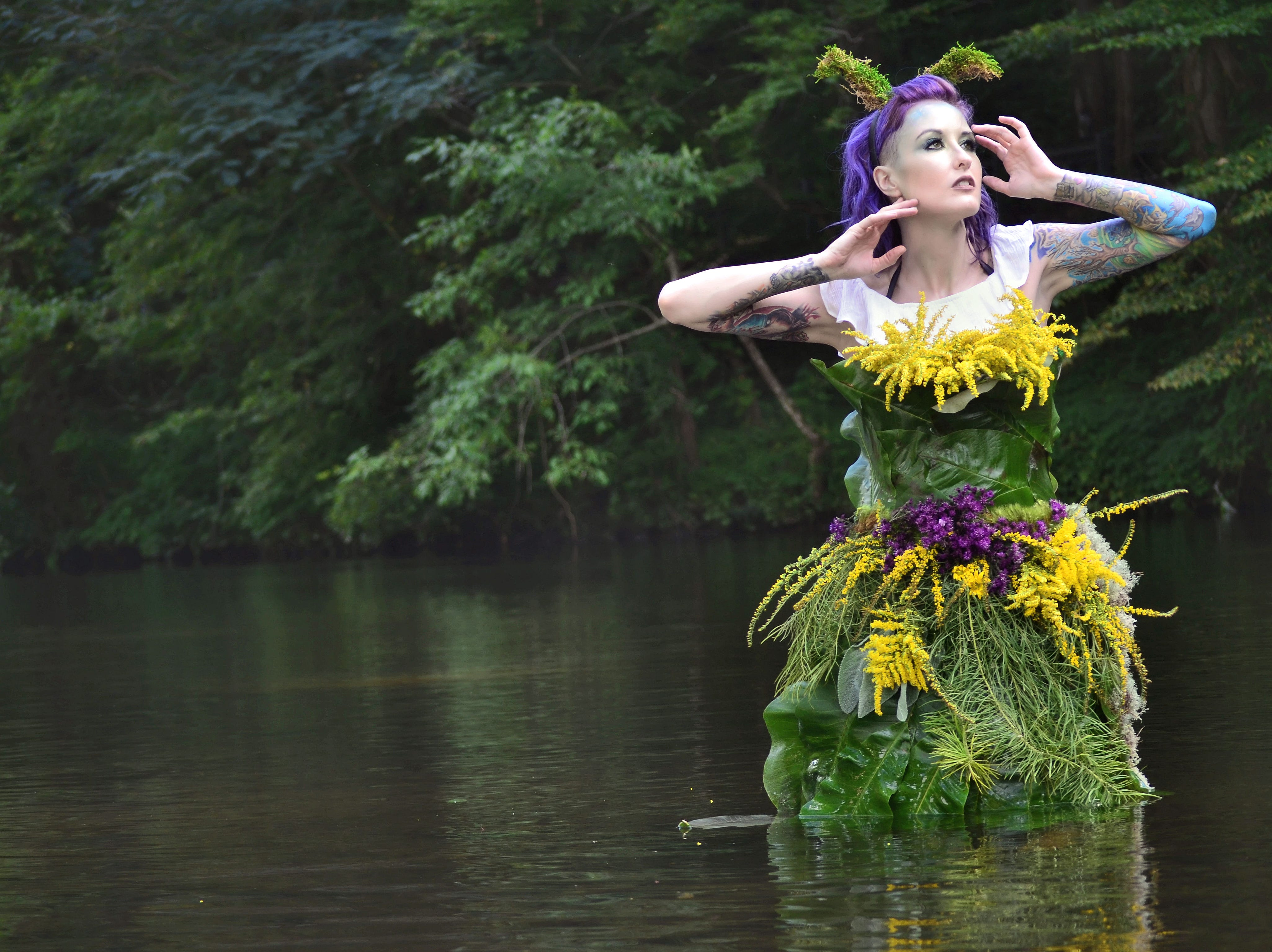 "Lori Cannon participates in this ""FernGully"" inspired photo shoot."