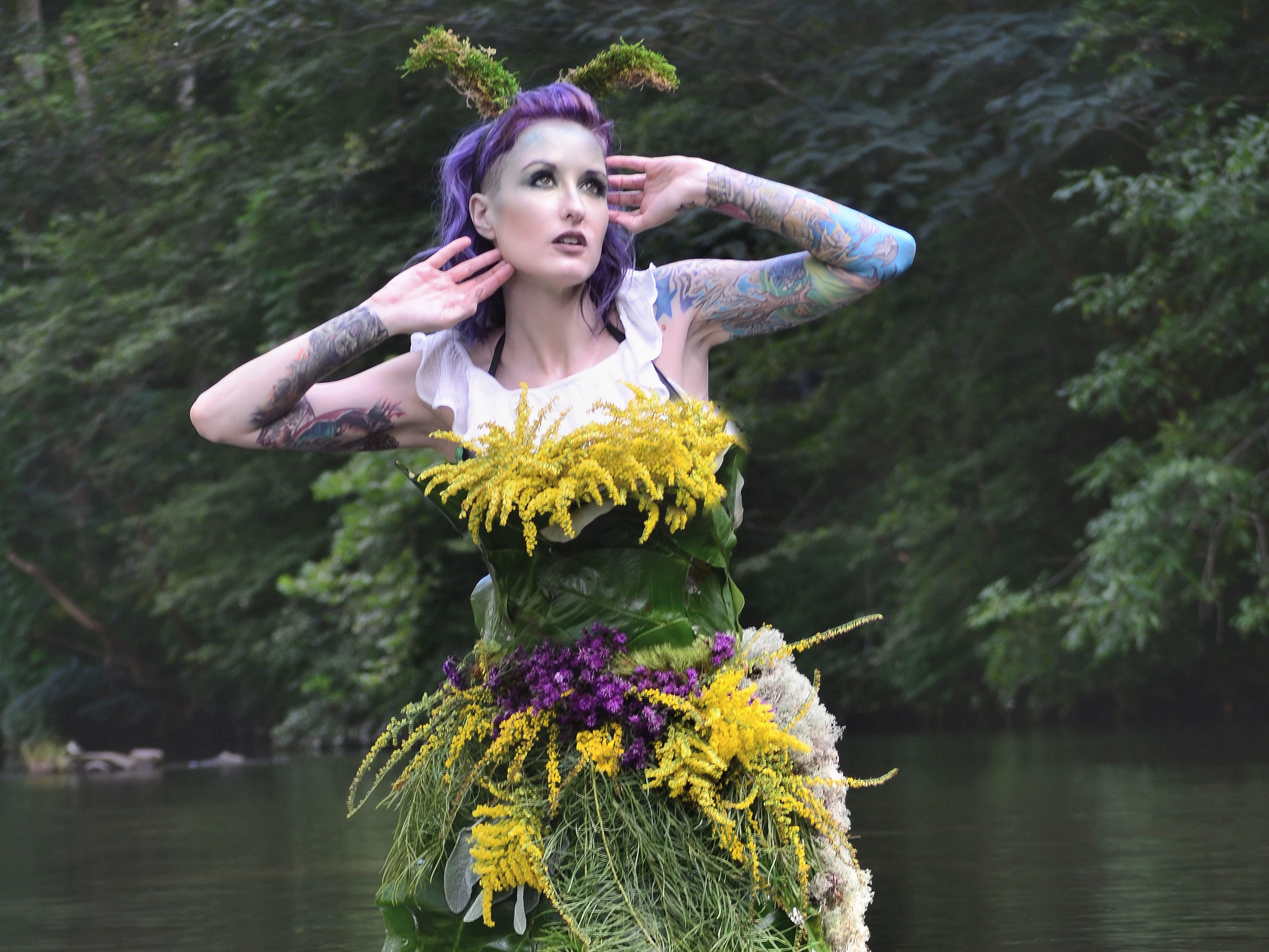 "Lori Cannon participates in a ""FernGully"" inspired photo shoot by Mallory Bertrand"