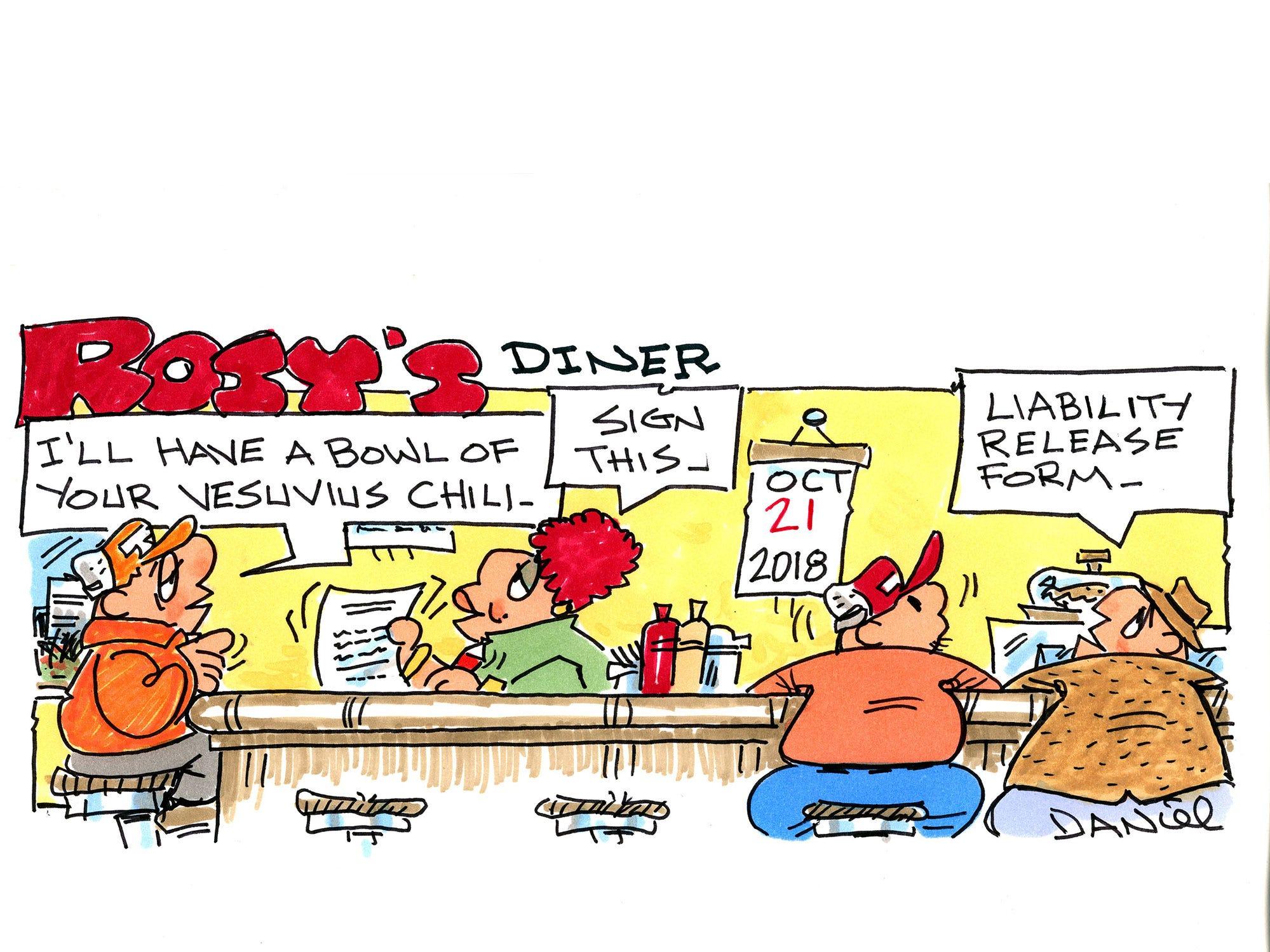 Charlie Daniel cartoon for Sunday, Oct. 21, 2018