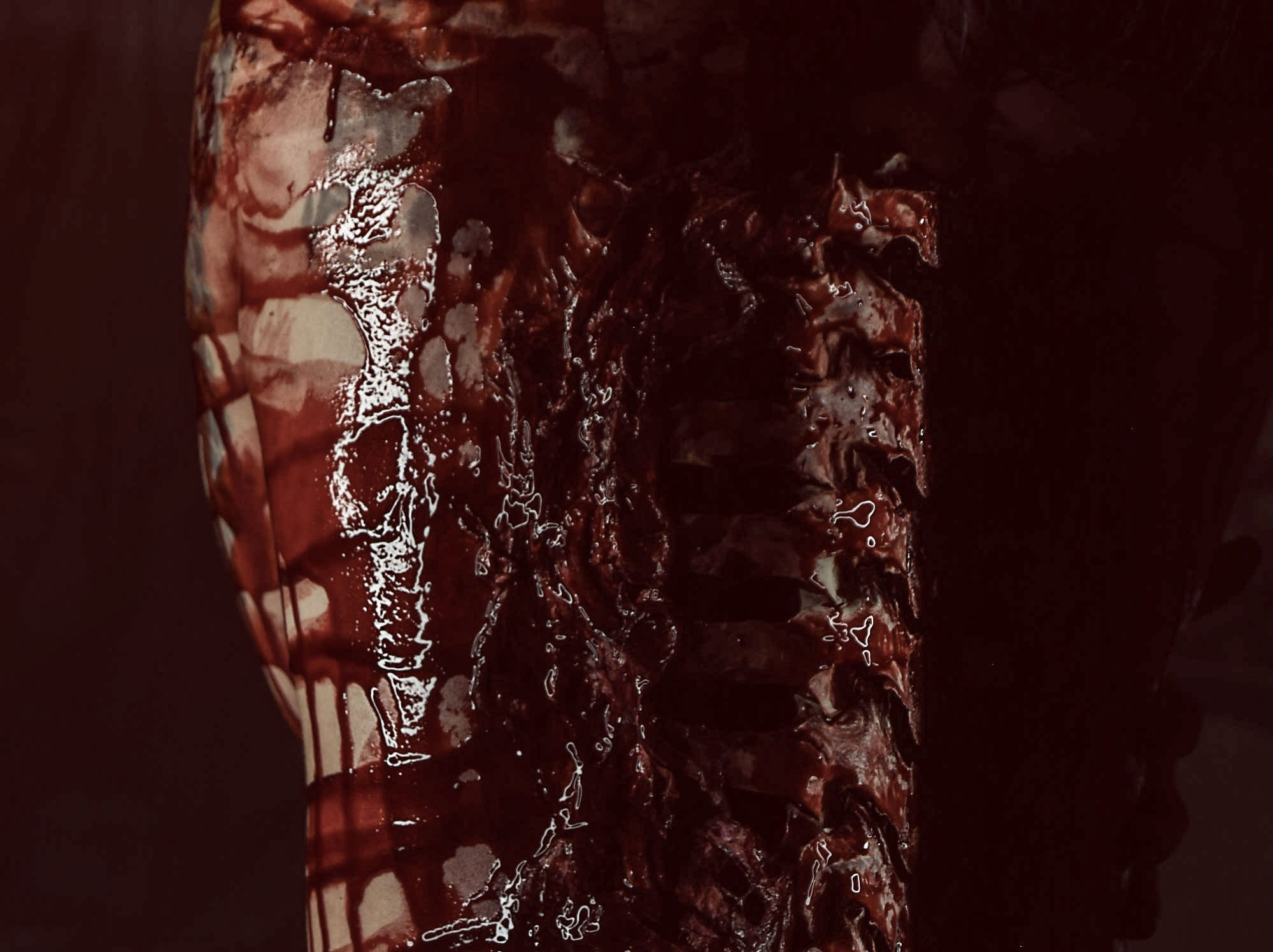 Leighann Word portrays a victim in this horror-themed photo session by Mallory Bertrand. Special effects by Ash Mac.