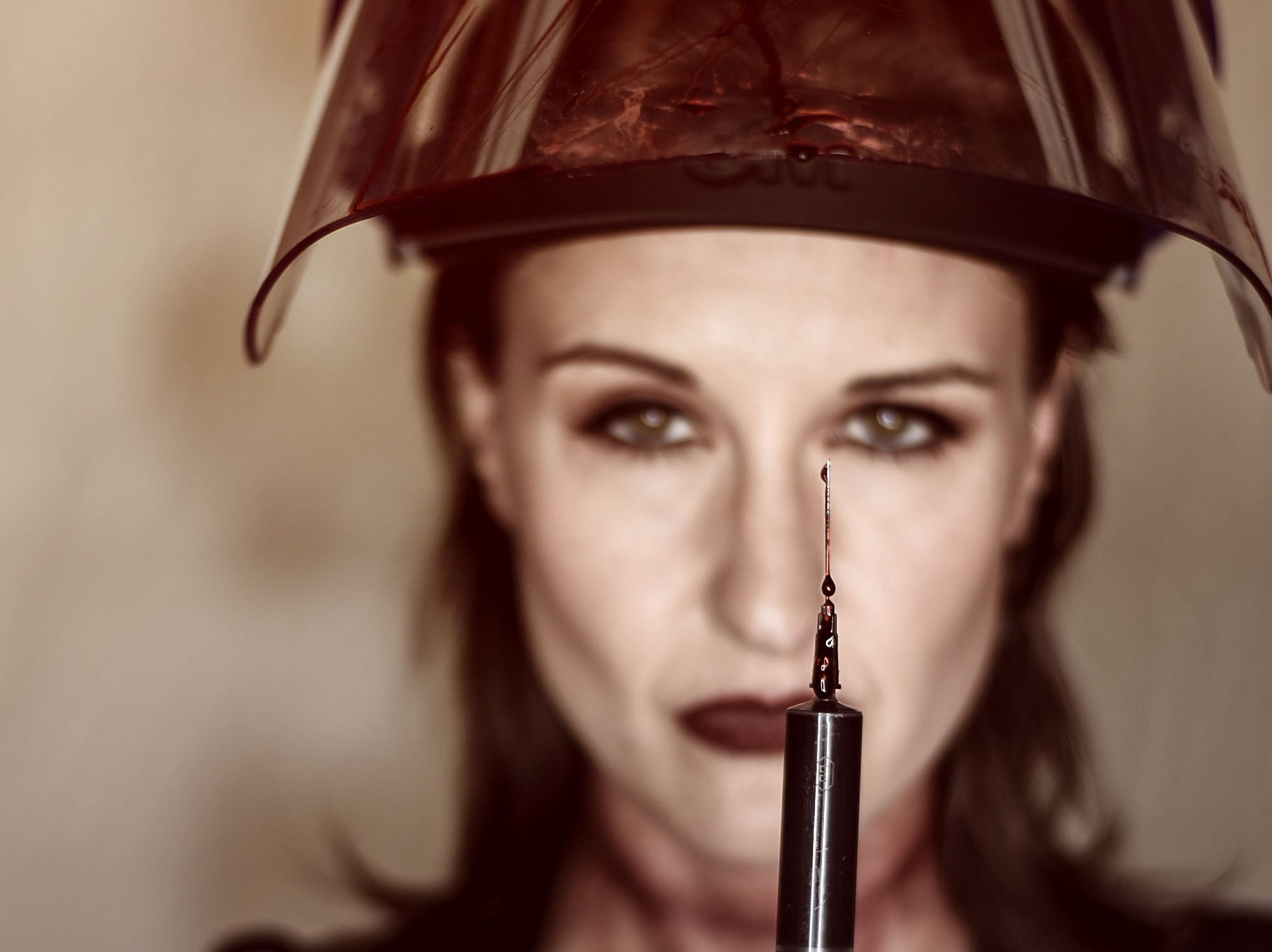 Lori Cannon as the physician in this horror-themed photo session by Mallory Bertrand. Special effects by Ash Mac.
