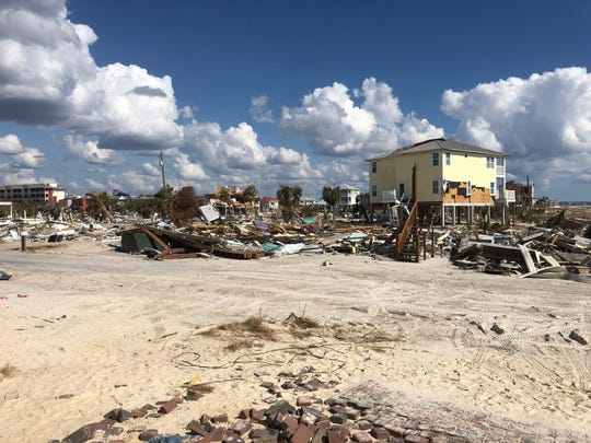The storm devastated most of the older homes on Mexico Beach, many of which were built around 50 years ago.