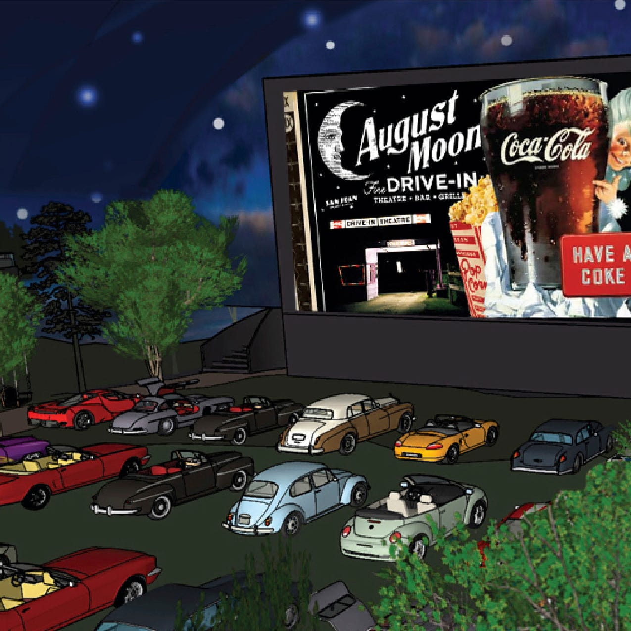 Pigeon Forge $7M concept August Moon Drive-In offers immersive movie experience