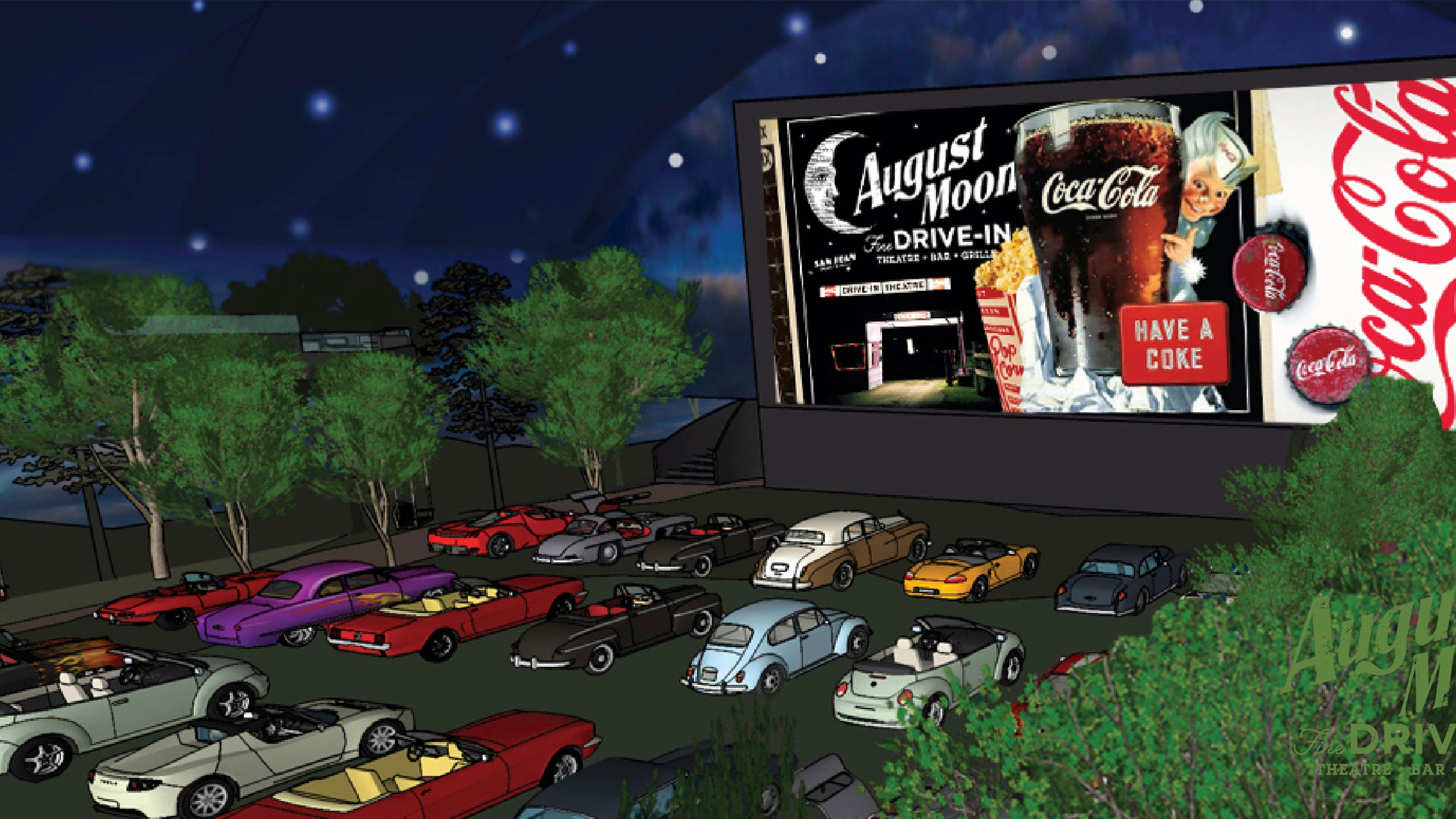 Pigeon Forge 7m Concept August Moon Drive In Offers Immersive Movie Experience