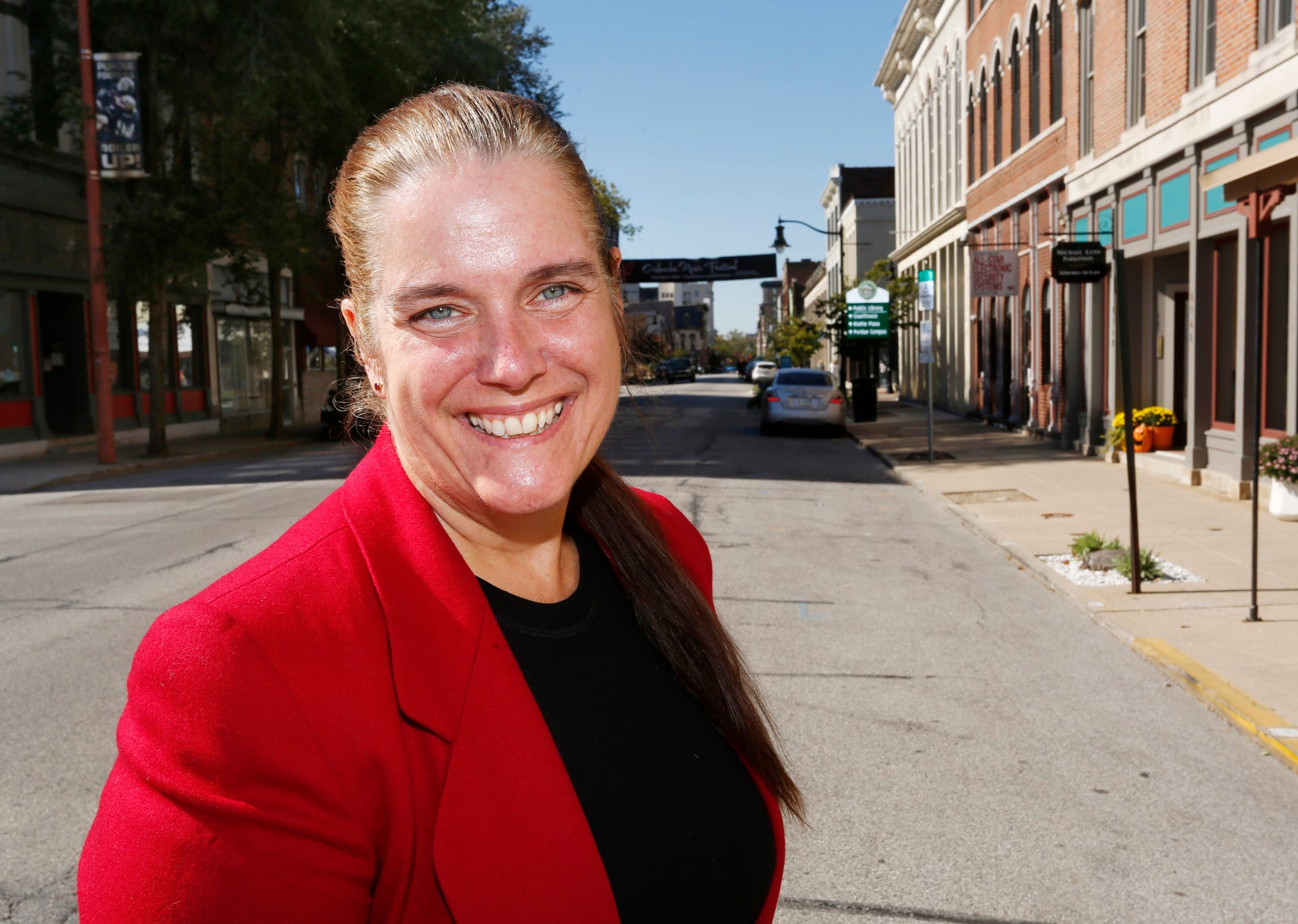 Tobi Beck, Democrat candidate for the 4th Congressional District, Thursday, October 18, 2018, in Lafayette.
