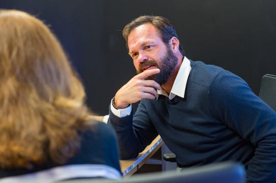 Lafayette native Judd Lormand visits with The Advertiser's Kris Wartelle about his starring role in hit TV show Navy Seals. Wednesday, Oct. 17, 2018.