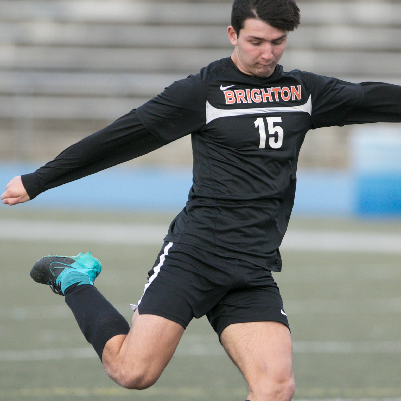 Senior's first 2-goal game sparks Brighton soccer win over Milford