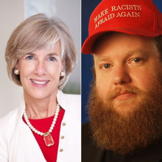 Republican Carol Griffith and Libertarian James Weeks, District 7 candidates for Livingston County Board of Commissioners.