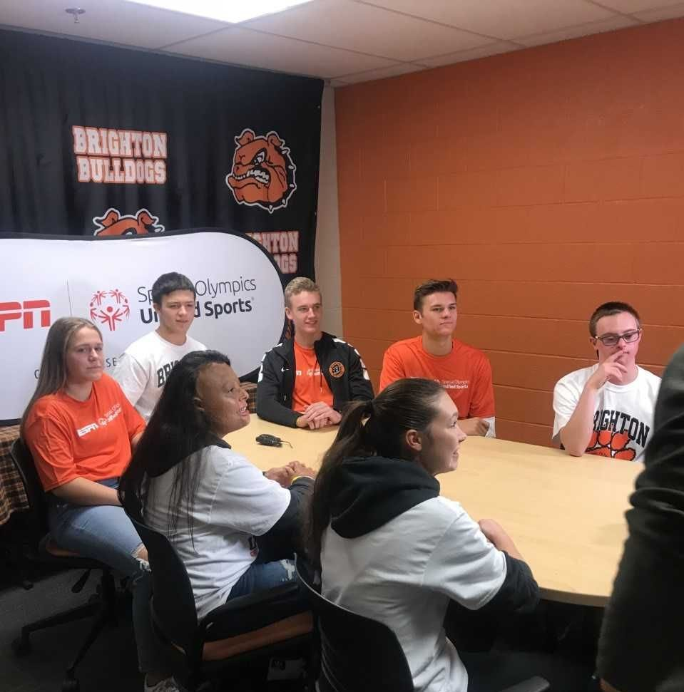 Brighton students discuss Unified Sports program with ESPN