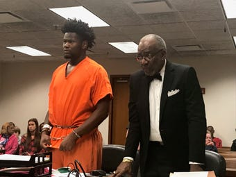 Kemari Averett is allowed to return to class at the University of Louisville after being accused of threatening to kill his girlfriend