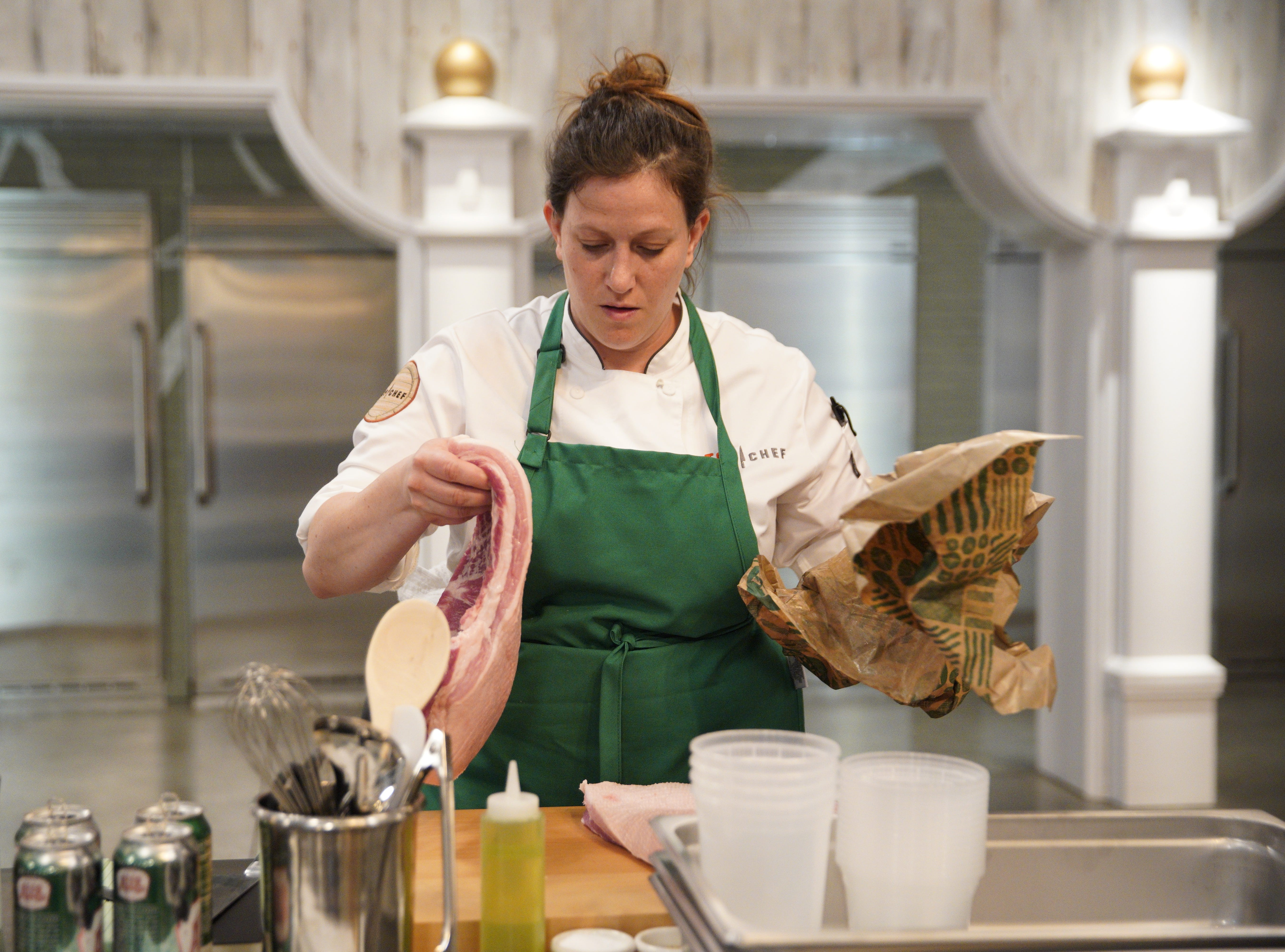 "Sara Bradley of Paducah, Kentucky competes on the first episode of ""Top Chef"" season 16."