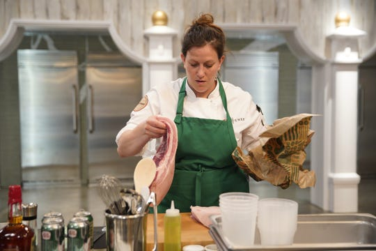 """Sara Bradley competes on the first episode of """"Top Chef"""" season 16."""
