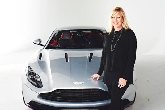 Laura Schwab With Aston Martin Db11
