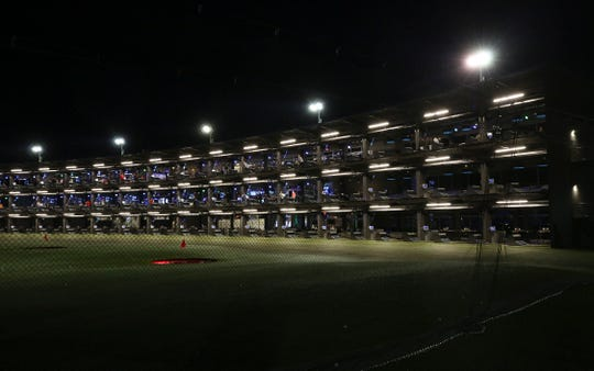 Topgolf is a combination driving range and entertainment complex. The hitting bays at the Topgolf outside of Cincinnati can accommodate many groups of golfers simultaneously . Topgolf is proposing to build a facility at Oxmoor Center in Louisville.