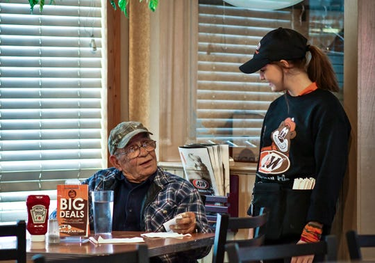 """""""She's delightful, and she's always smiling, she's a beautiful soul,"""" said  John Goodman of DeWitt on Friday, Oct. 12, 2018, while chatting with Grand Ledge A&W waitress Jesika Price of Grand Ledge. Recently Jesika was tipped $500 by a regular who wishes not to be named, to help her on her pathway through school."""
