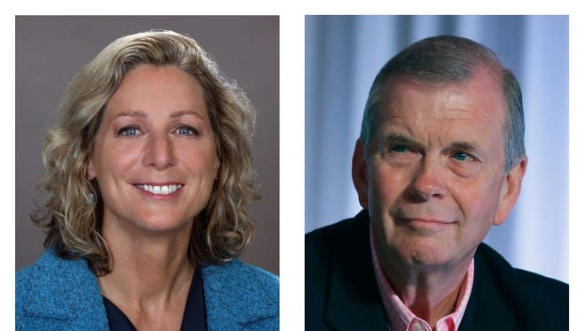 Gretchen Driskell (D) and Tim Walberg (R), candidates for U.S. Congress (District 7)