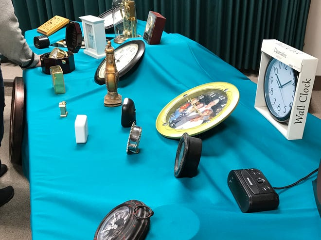 Thirty-nine clocks were on display Tuesday. Each clock represented a person to die in a domestic violence incident in 2017.