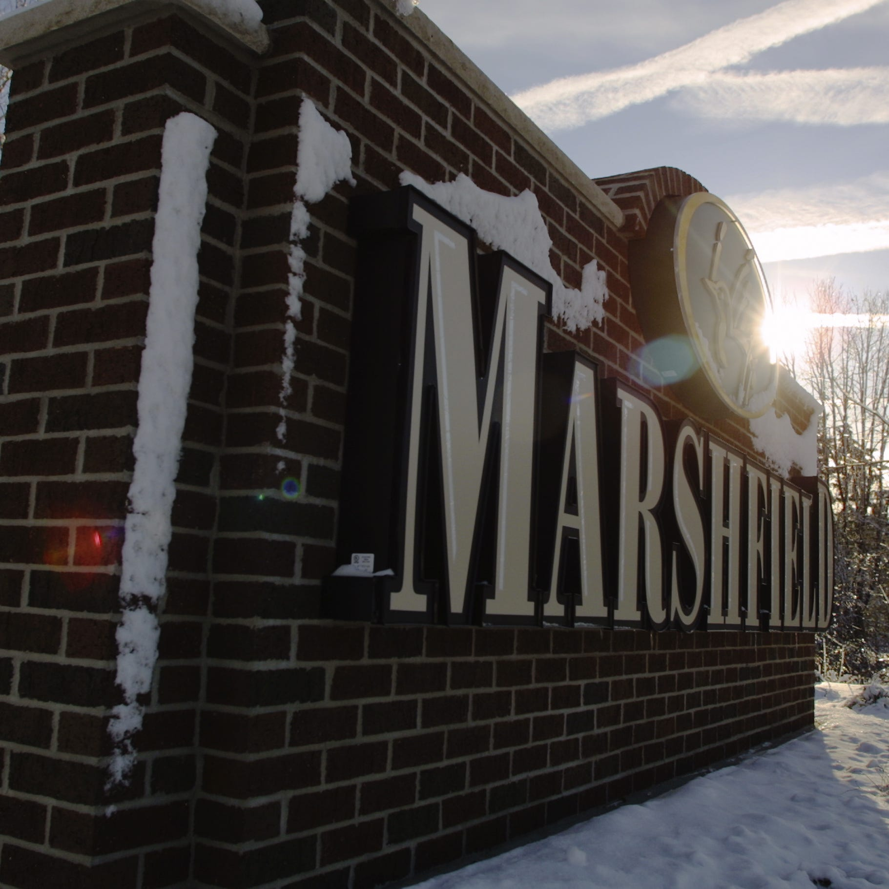 A Marshfield sign greets visitors coming into town on Highway 13 North.