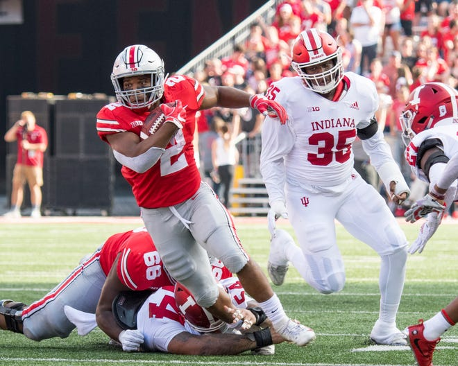 After a record rushing campaign as a freshman, J.K. Dobbins has found the sledding much tougher this season for the Buckeyes.