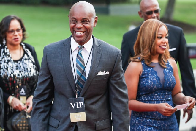 October 17 2018 - Shelby County Schools Superintendent Dorsey Hopson arrives on the red carpet during the 27th Freedom Award event on Wednesday.