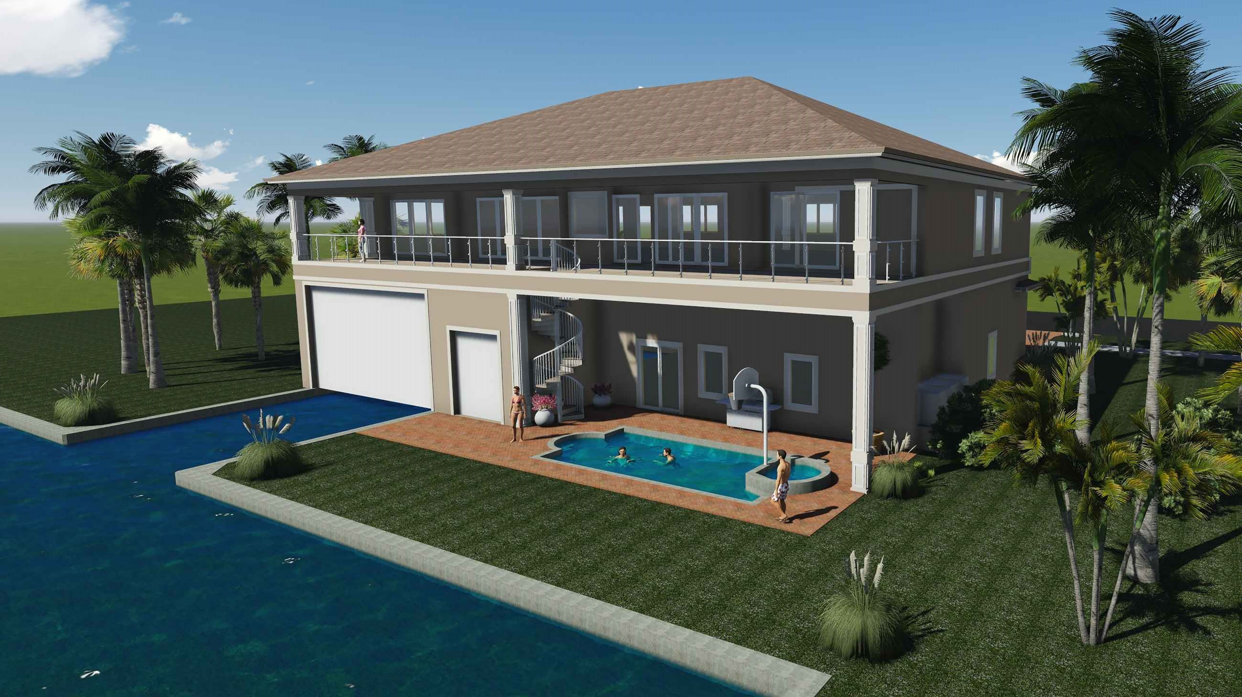 An Artistu0027s Rendering Shows The Completed Orange Ct. Home With Boat Slip Overhead  Doors Lowered. (Photo: Image Provided)