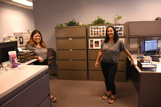 Accounting specialists Sandy Moore, left, and Marilyn Prigge work in the accounting department. The City of Marco Island is holding an open house Tuesday afternoon at City Hall, from 3 to 5 p.m.
