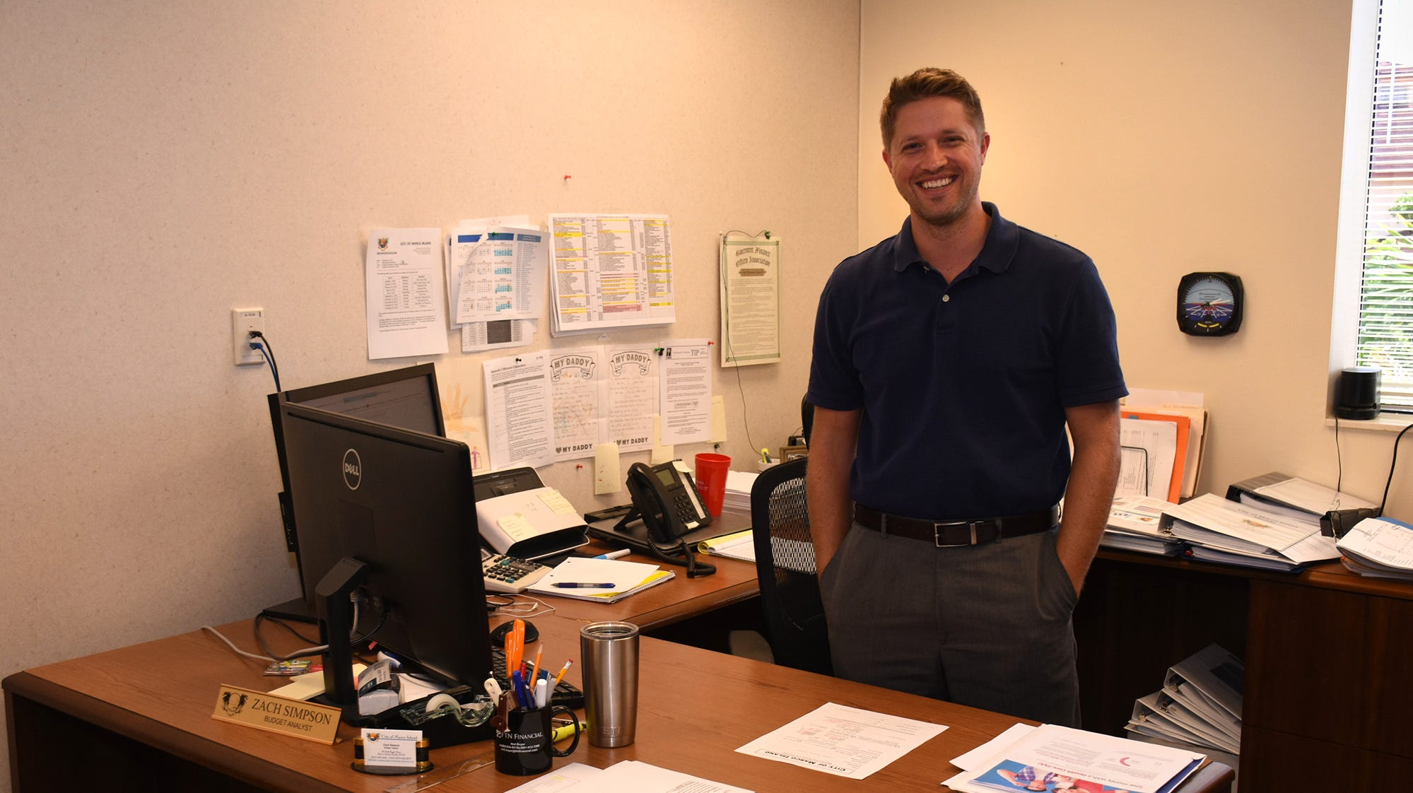 Budget analyst Zack Simpson. The City of Marco Island is holding an open house Tuesday afternoon at City Hall, from 3 to 5 p.m.