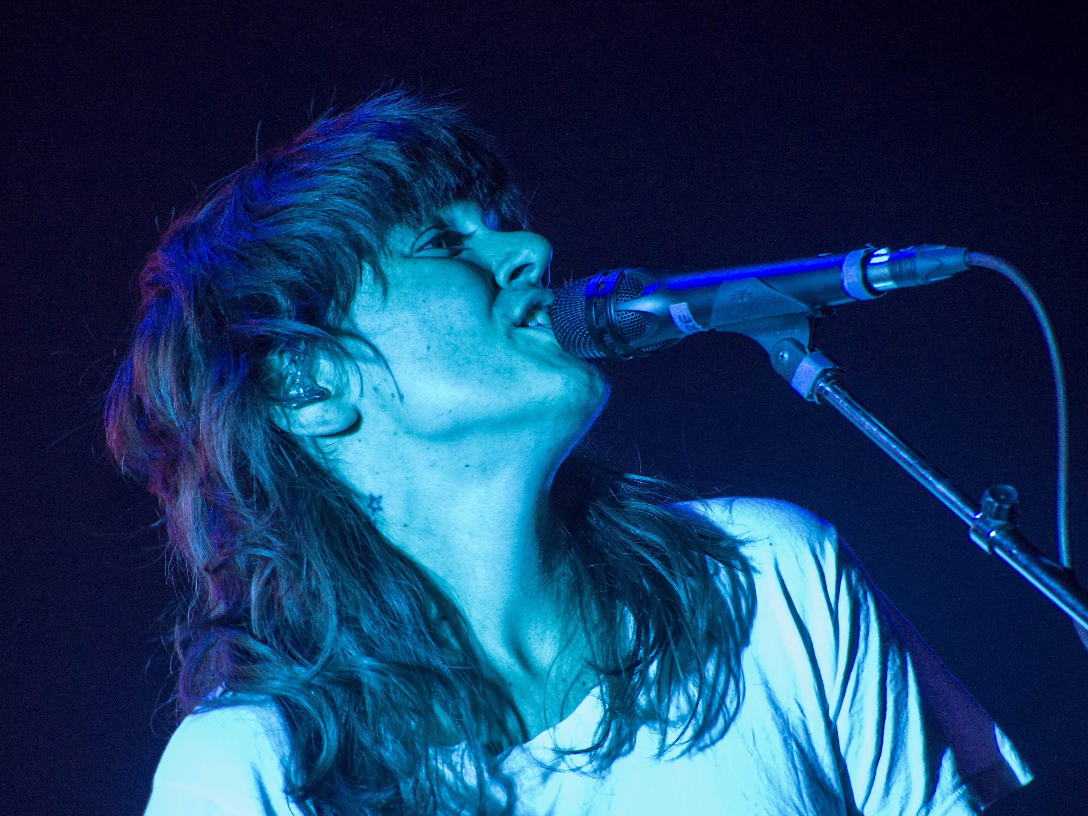 Courtney Barnett sings during her show at the Pabst Theater on Oct. 17, 2018.
