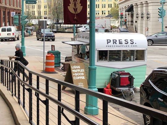 The Press waffle trailer, named Jane, will be parked in the Third Ward on Tuesdays through Thursdays until the cafe opens in the new year.