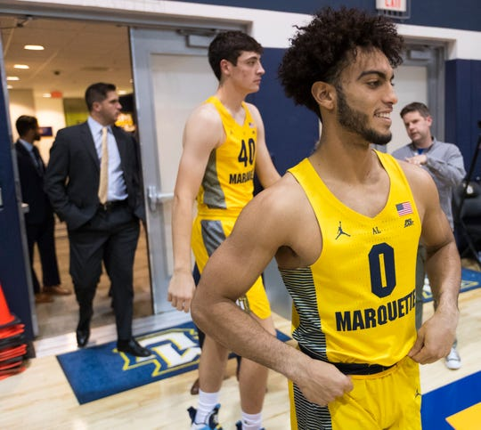 Marquette guard Markus Howard (0) says he feels like he might be in the best shape of his life.