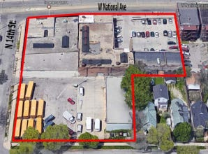 Two adjacent parcels totaling over 1.5 acres in Milwaukee's Walker's Point neighborhood could be the site of a new 90-unit affordable apartments development. Buildings on the site would be razed to make way for the project.