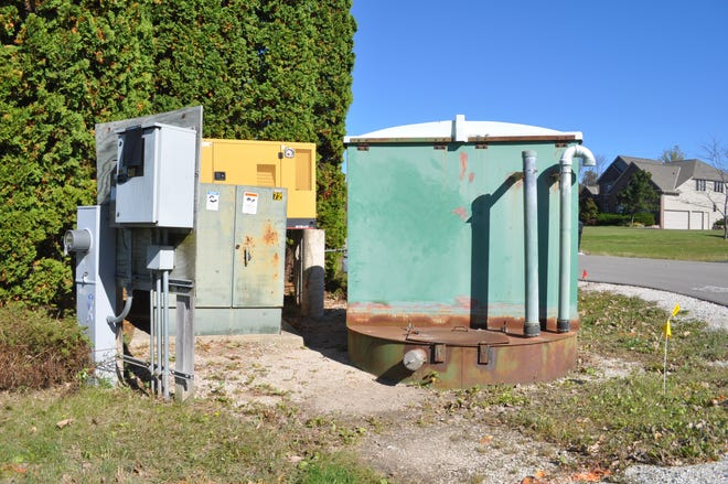 The village of River Hills plans to replace this sewer pump lift station for $228,080. Each of the 20 homes served by the lift station will be billed $11,404 to pay for its replacement.