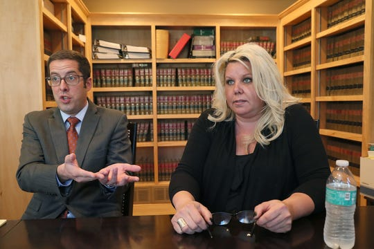 Anne Schulze, right, with her attorney Anthony Cotton