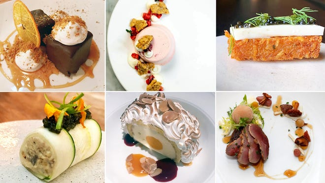 Some dishes from Milwaukee's best restaurants of 2018: Odd Duck (top row, from left), Third Coast Provisions, EsterEv, Ardent (bottom row, from left), Lake Park Bistro and Sanford.
